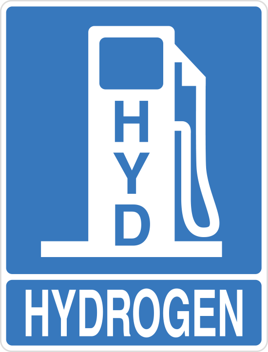 hydrogen fuel sign